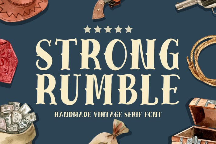 Strong Rumble - Vintage Serif Font
