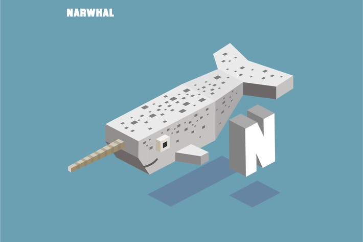 Thumbnail for N for Narwhal. Animal Alphabet