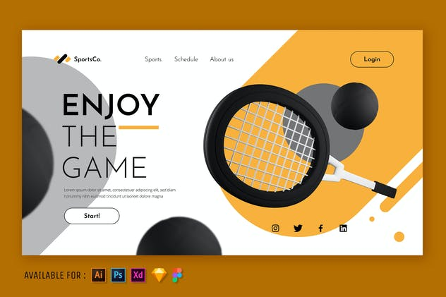 Enjoy The Game - Web 3D Illustration