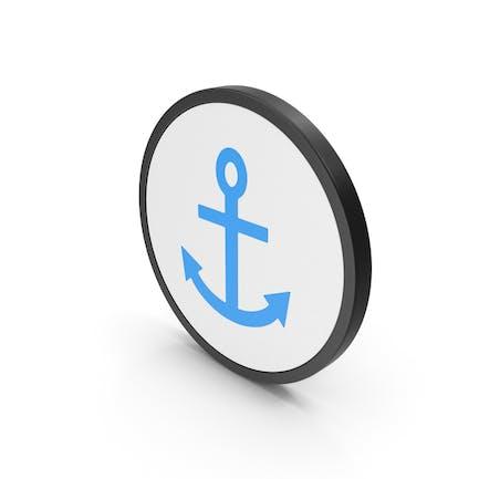 Icon Anchor Blue