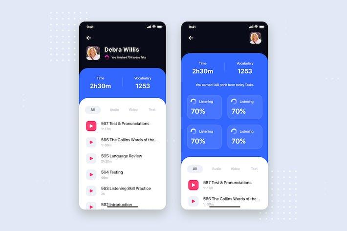 Thumbnail for E-Learning Mobile App UI Kit Template