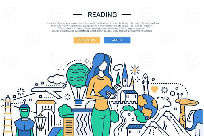 Thumbnail for Reading - line design website banner