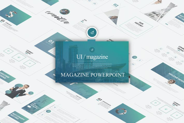 Thumbnail for Ui Magazine Business Powerpoint  - LS