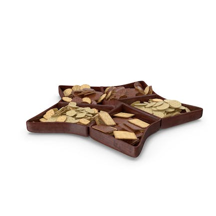 Compartment Bowl With Chocolate Covered Crackers