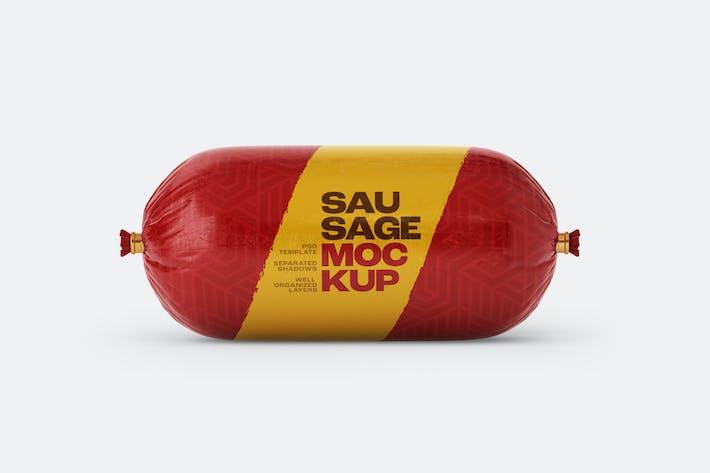 Small Sausage Chub Mockup