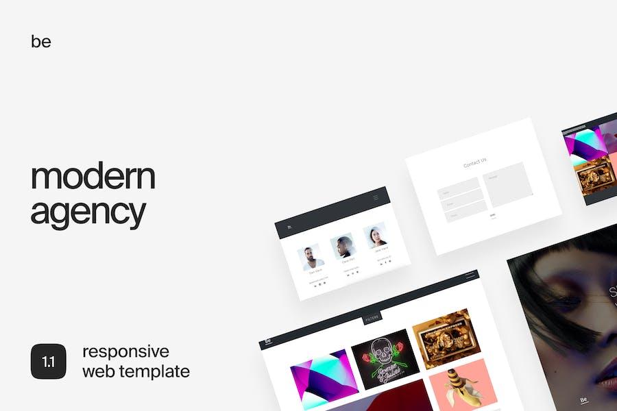 Be   Portfolio Template for Creatives