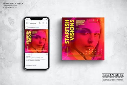 Starfish Visions Music Square Flyer & Social Media