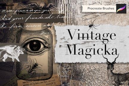 Vintage Magicka Procreate Brushes