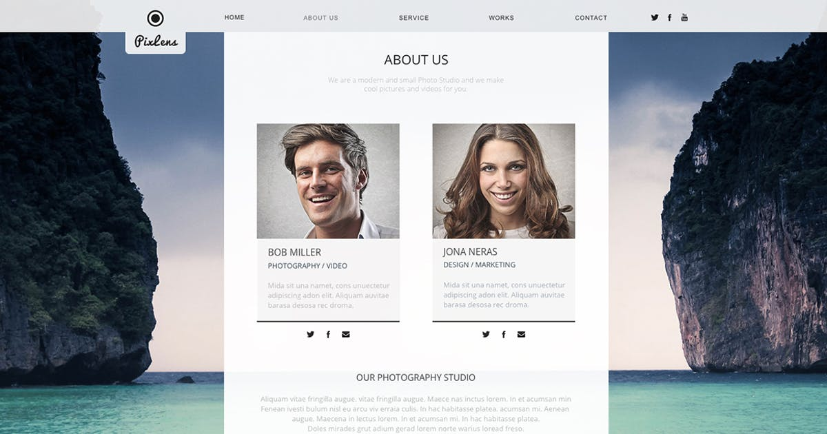 Download PixLens - Photography Portfolio Muse Template by MuseFrame