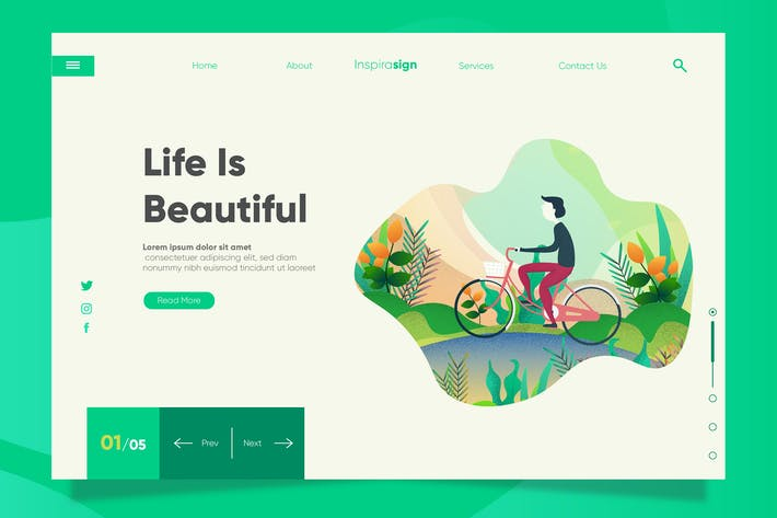 Thumbnail for Life - Banner & Landing Page