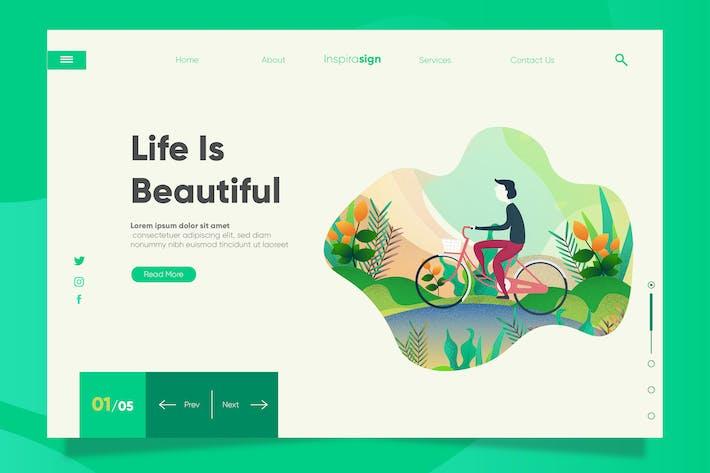 Thumbnail for Vida - Banner y Página de destino