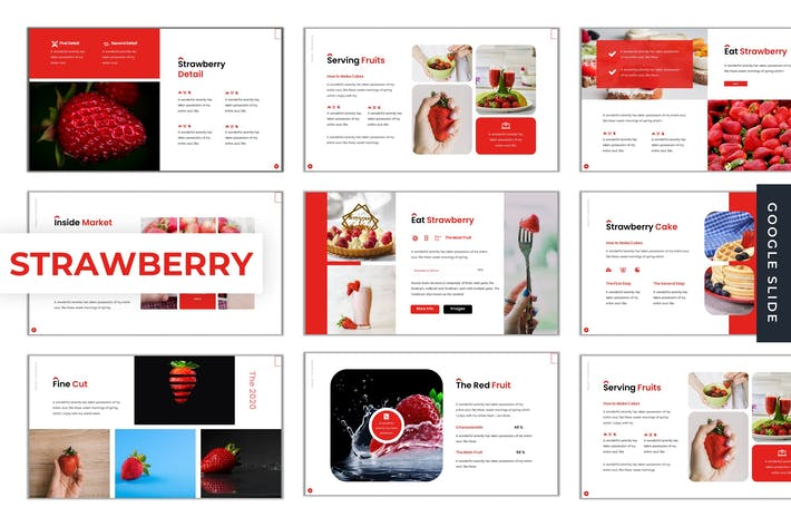Thumbnail for Strawberry - Google Slides Template