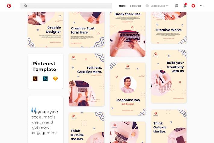 Thumbnail for Pinterest Social Media Banner