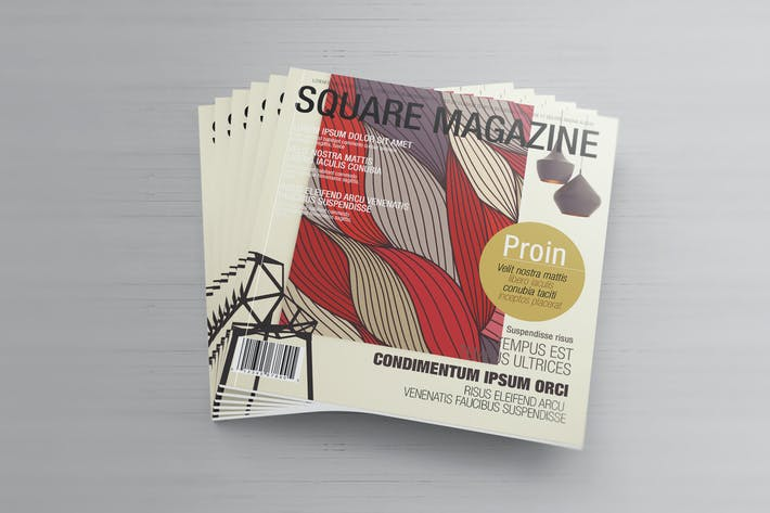 Thumbnail for Brochure - Square Magazine Mockups