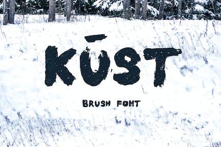 Kust Brush Font