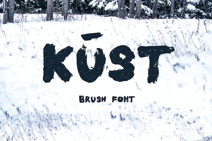 Thumbnail for Kust Brush Font
