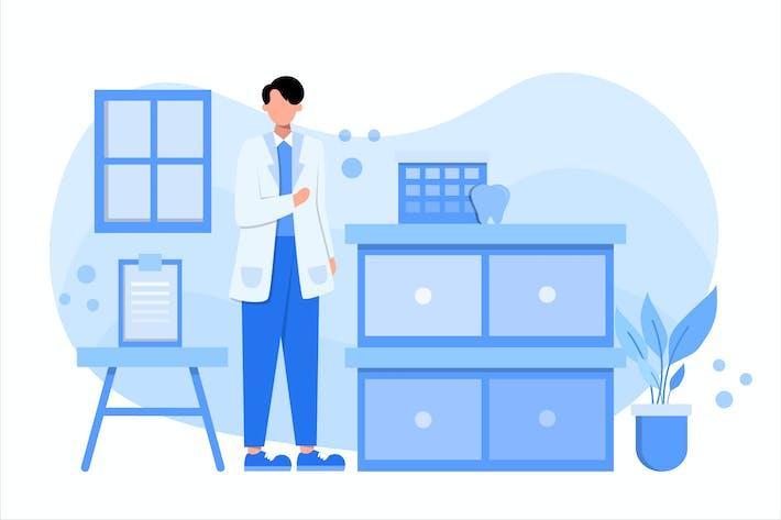 Thumbnail for Dentist Medical Flat Vector Illustration