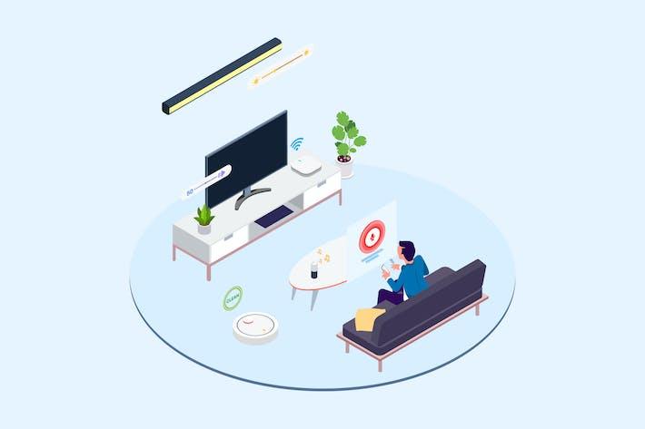 Thumbnail for Smart Echo Isometric Illustration - T2