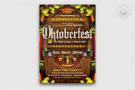 Oktoberfest dépliant Modèle V6