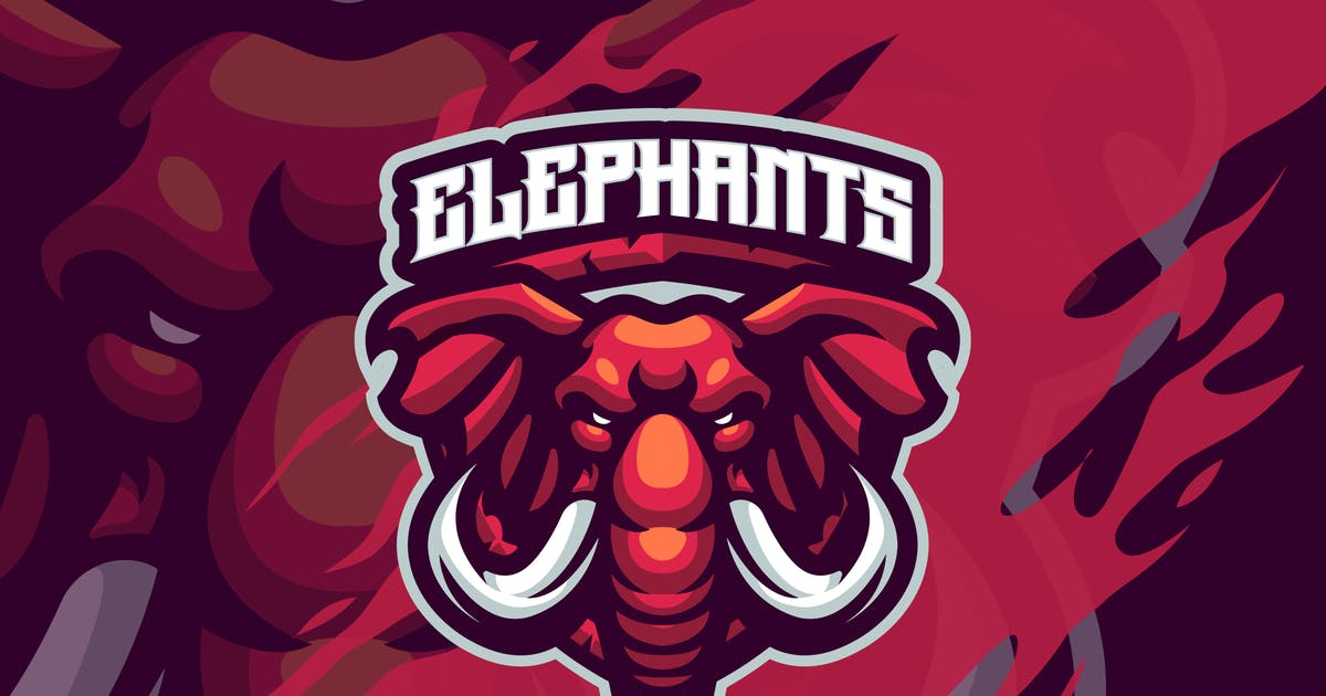 Download Elephant Mascot logo template by febryangraves