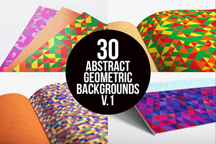Thumbnail for Abstract Geometric Backgrounds v.1