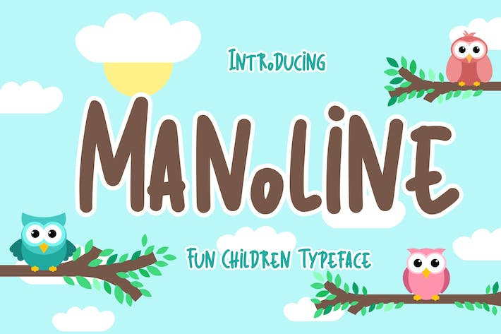 Thumbnail for Manoline Fun Children Tipo de letra