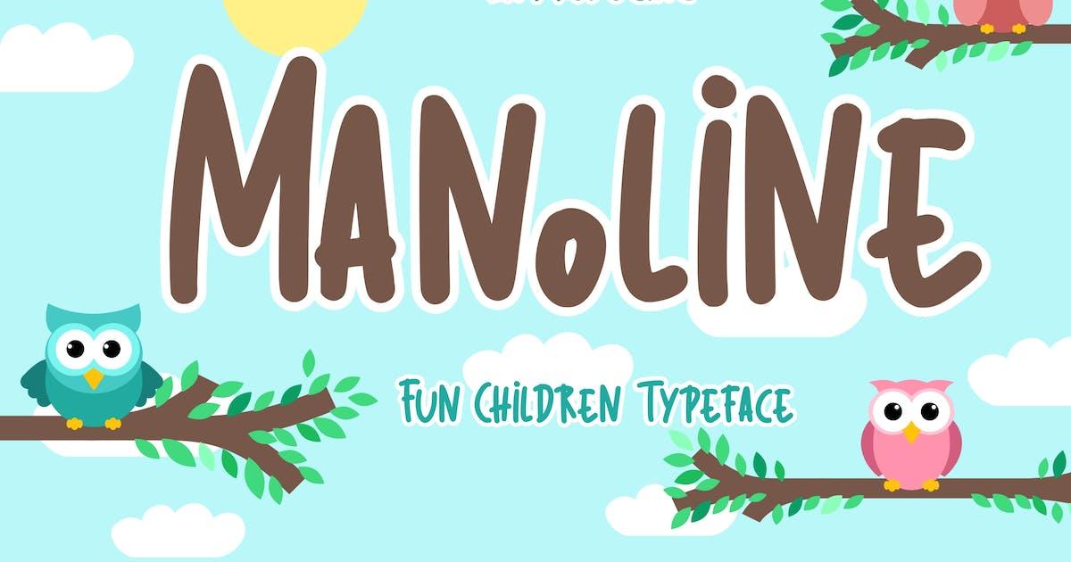 Download Manoline Fun Children Typeface by RahardiCreative