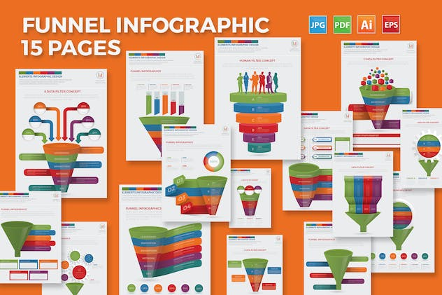 Filter Funnel Infographics Design - product preview 0