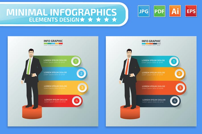 Thumbnail for Businessman Infographic Design