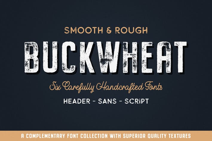 Thumbnail for Buckwheat Vintage Font Collection