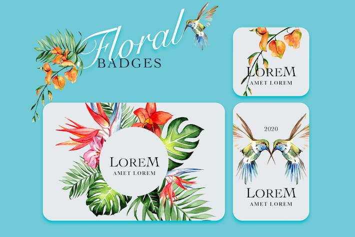 Thumbnail for Tropical Flower Badges