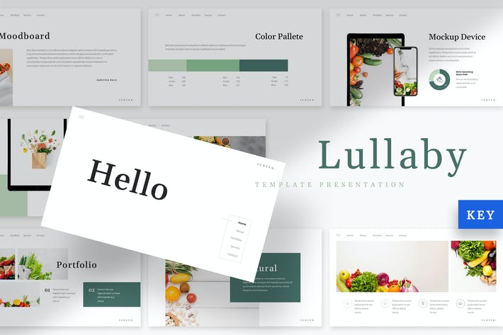 Thumbnail for Lullaby - Vegetables Keynote Template