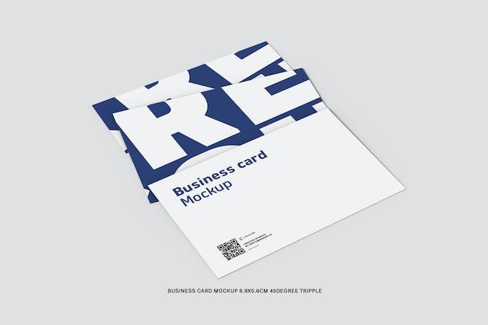 45 Degree Tripple Business Card 8.9x5.6cm