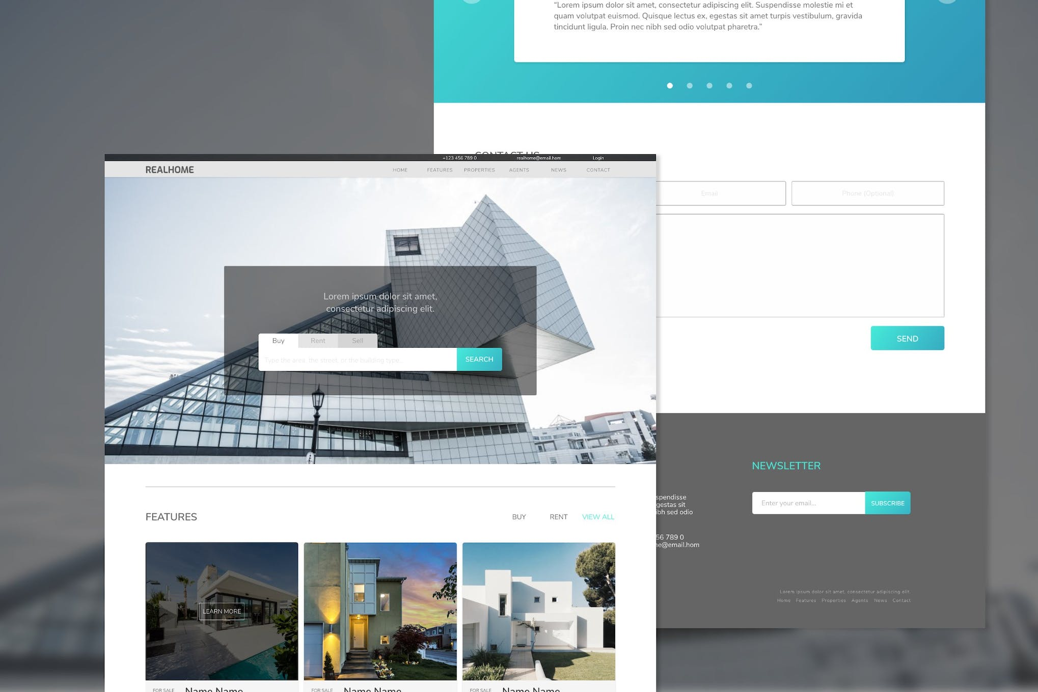 Realhome Real Estate Adobe XD Template by inipagi on Envato