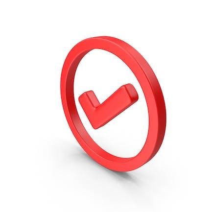 Eingekreistes rotes Websymbol prüfen