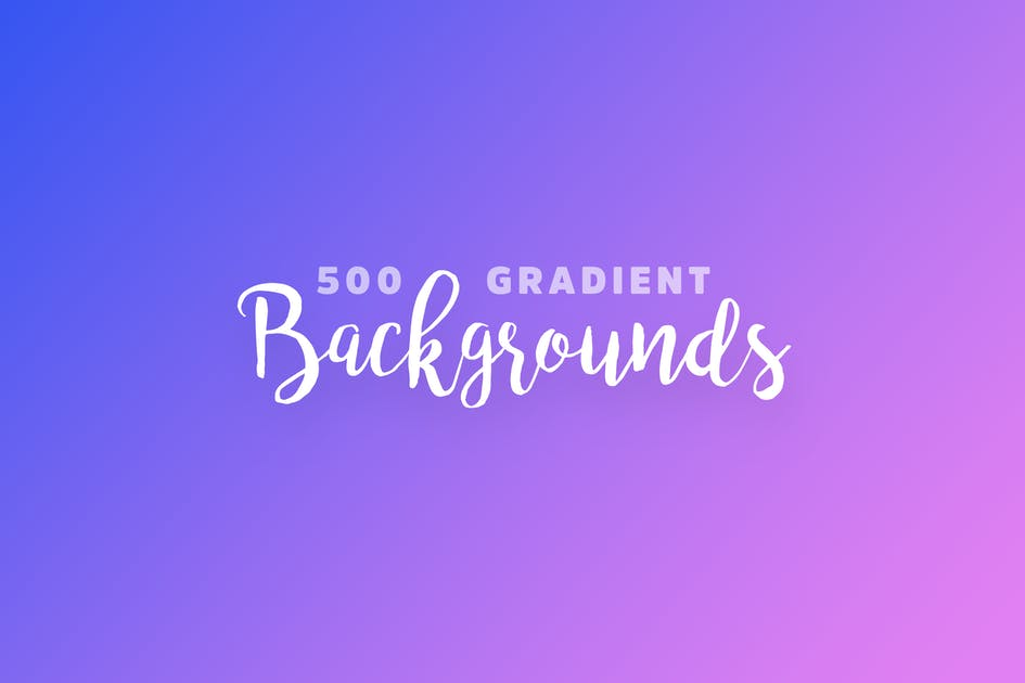 Download 500 Gradient Backgrounds by cerpow