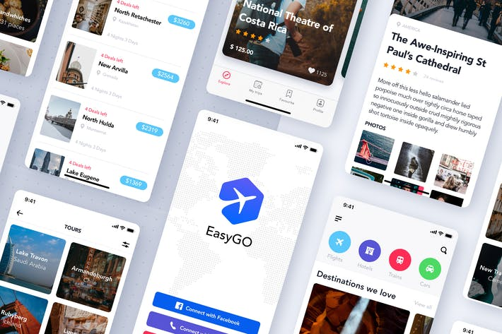 Thumbnail for Travel Booking App UI Kit