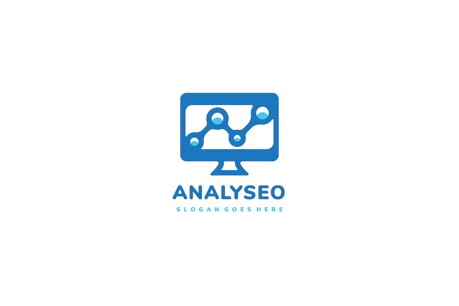 Logo d'ordinateur Seo