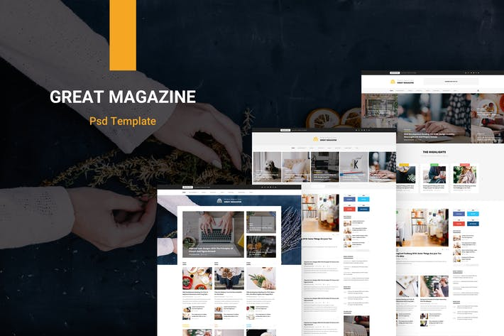 Thumbnail for Great Magazine - Magazine Psd Template