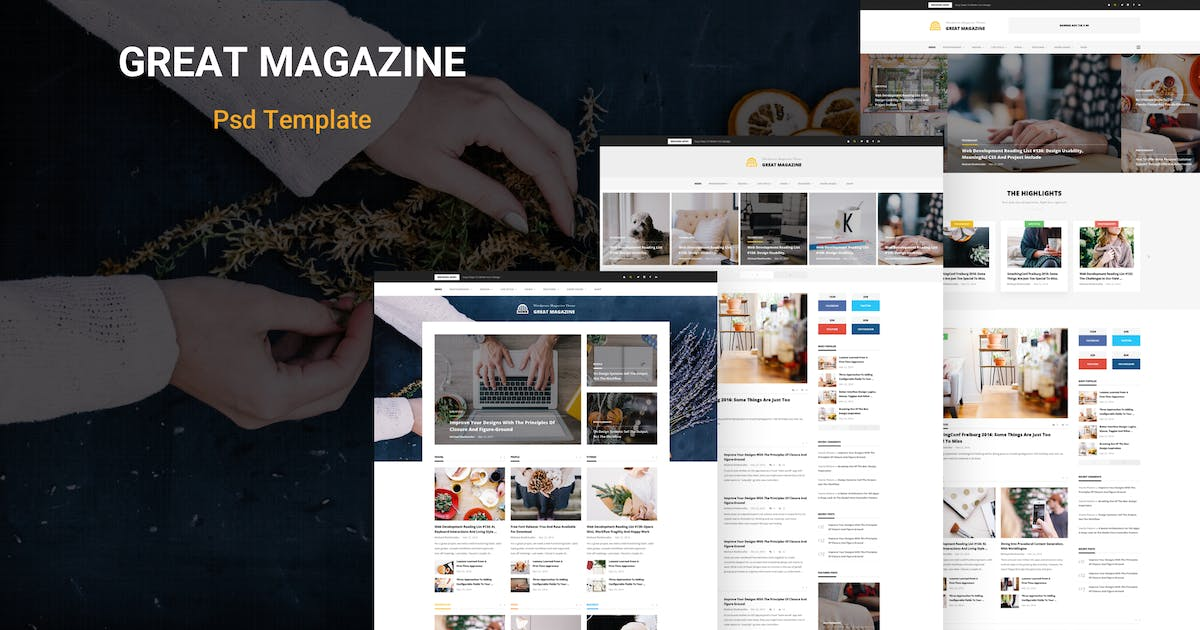 Download Great Magazine - Magazine Psd Template by AlitStudio