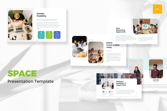 Thumbnail for Coworking & Office Space Google Slides Template