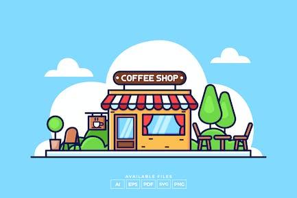 Иллюстрация кофейни