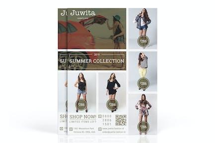 Juwita: Fashion Marketing Flyer