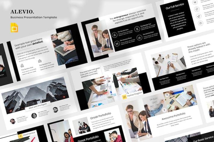 Thumbnail for Alevio - Бизнес Презентация Google Слайд