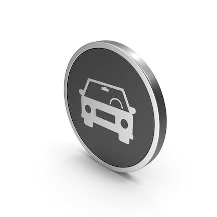 Silver Icon Car