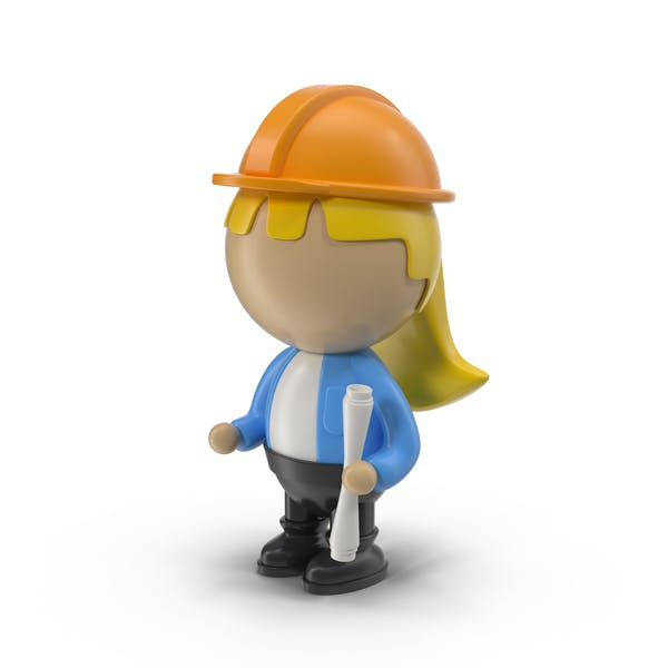 Cartoon Female Engineer