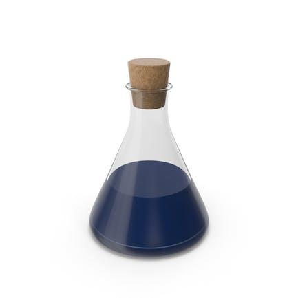 Бутылка зелье синий