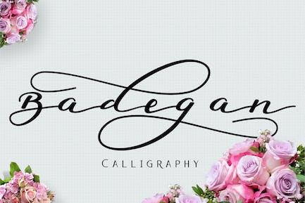 Caligrafía Badegan