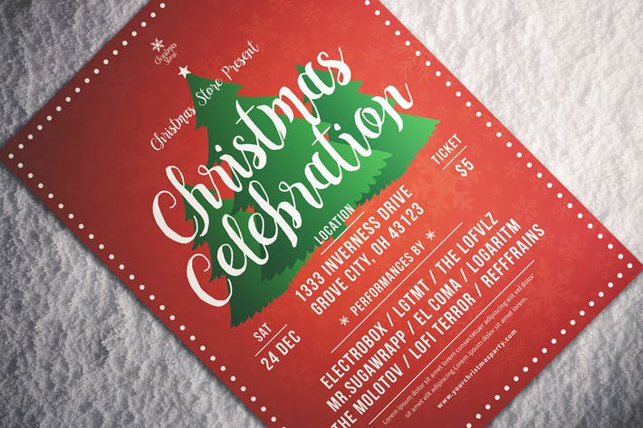 Cover Image For Christmas Celebration Flyer