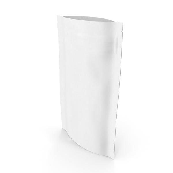 Zipper White Paper Bag 50 g Open